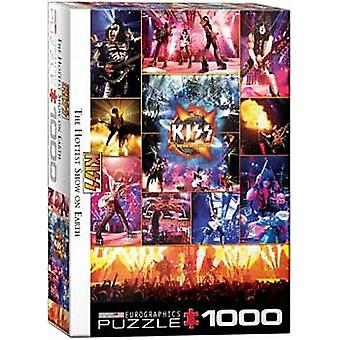 Kiss The Hottest Show On Earth 1000 Piece Jigsaw Puzzle 680Mm X 490Mm