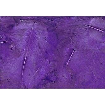 5g Purple Fluffy Craft Feathers   Scrapbooking Card Making Embellishments
