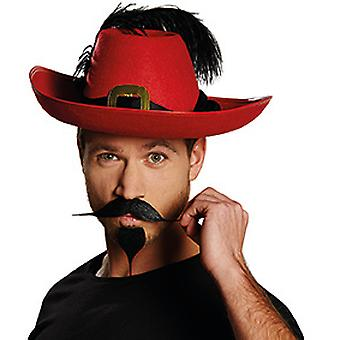 Bart Arthur black mustache goatee pointed accessory Carnival Halloween