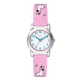s.Oliver silicone band watch kids SO-3611-PQ