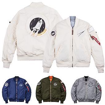 Alpha industries men's bomber jacket MA-1 VF NASA RP