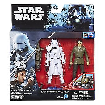 Star Wars The Force Awakens Poe Dameron & First Order Snowtrooper Deluxe Pack