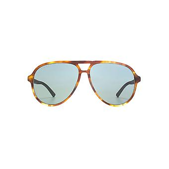Gucci Sporty Pilot Sunglasses In Havana Green