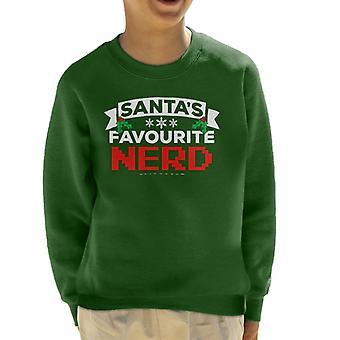 Santas favoriete Nerd kerst Kid's Sweatshirt