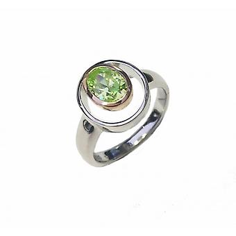 Cavendish French Silver and Peridot Greent CZ Rennie Mackintosh Style Ring