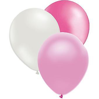 Luftballons mix rosa/weiß/blass rosa 27-pack