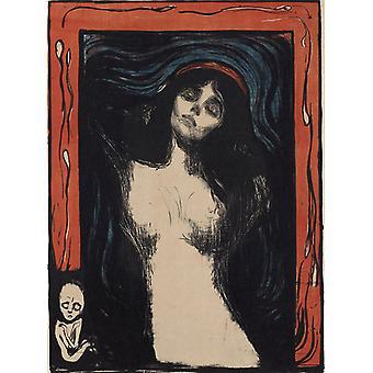 Madonna, Edvard Munch, 60,7 x 44.5 cm