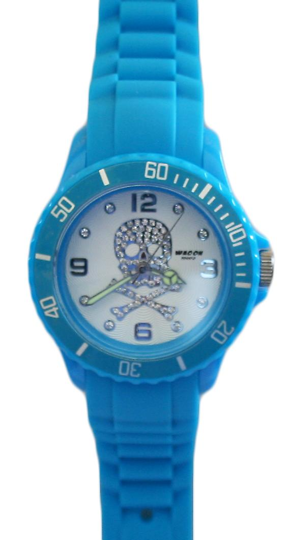 Waooh - Watch SKULL 38 Silicone Turquoise