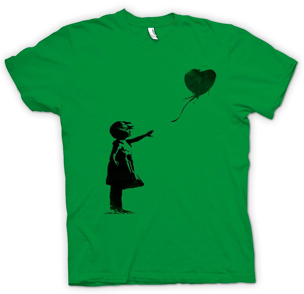 Mens T-shirt - Banksy Graffiti kunst - ballon
