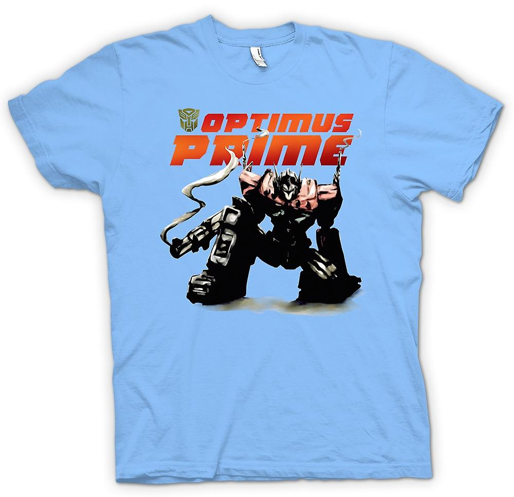 Mens T-shirt-Transformers Optimus Prime hockend