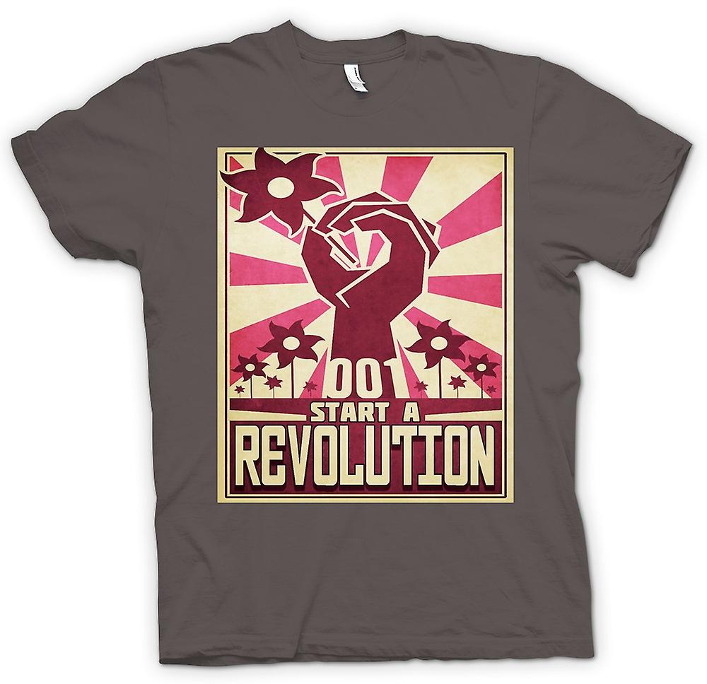 Mens T-shirt - Start A Revolution - Cool Design