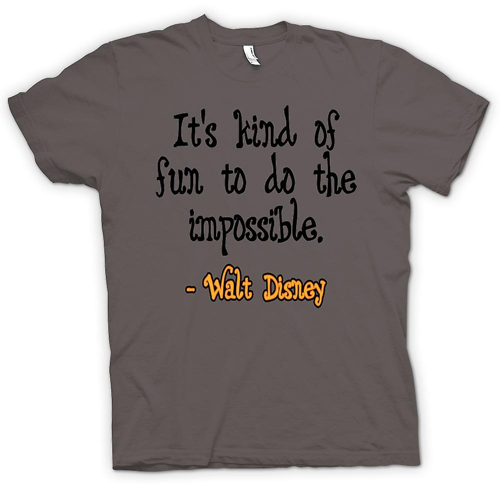 T-shirt - è sorta di divertente fare l'impossibile - Walt Disney