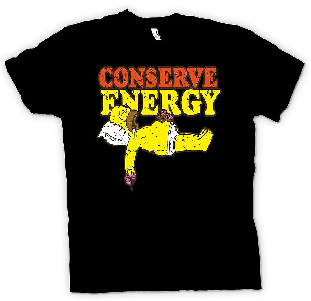 Mens t-shirt - Homer - risparmiare energia