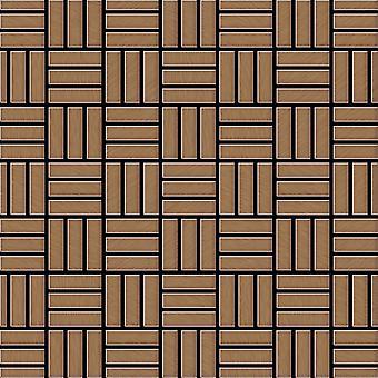 Metal mosaic Titanium ALLOY Basketweave-Ti-AB