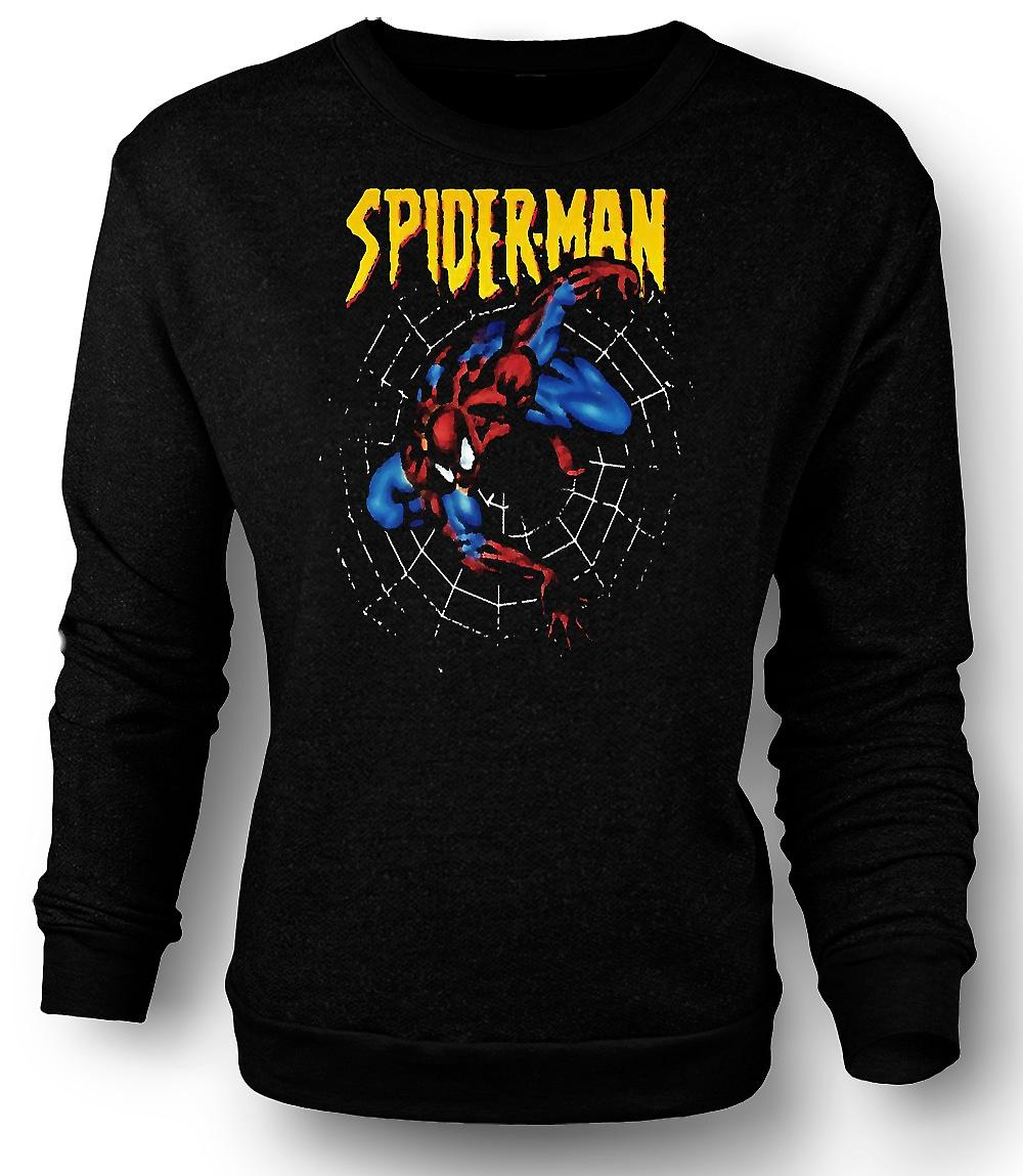 Mens Sweatshirt supermann - Spiderman - Pop Art - komiske Hero