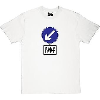 Mantenha a t-shirt esquerda masculina