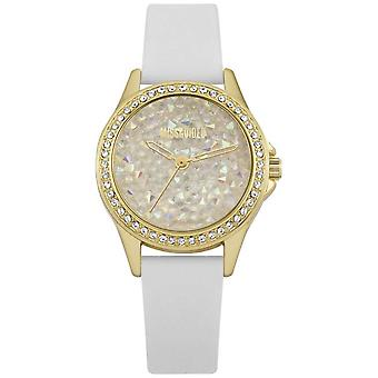 Missguided | Ladies | White Leather Strap Gold Case | MG013WG Watch