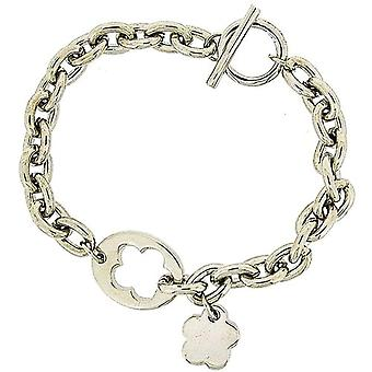 Pierre Cardin Ladies Silver Plated Charm Bracelet - 8 Inch with T-Bar Closure