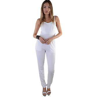 Lovemystyle Jumpsuit In White With Side Pockets