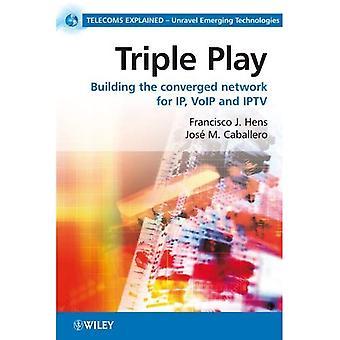 Triple Play: Costruire la rete convergente per IP, VoIP e IPTV (telecomunicazioni spiegate)