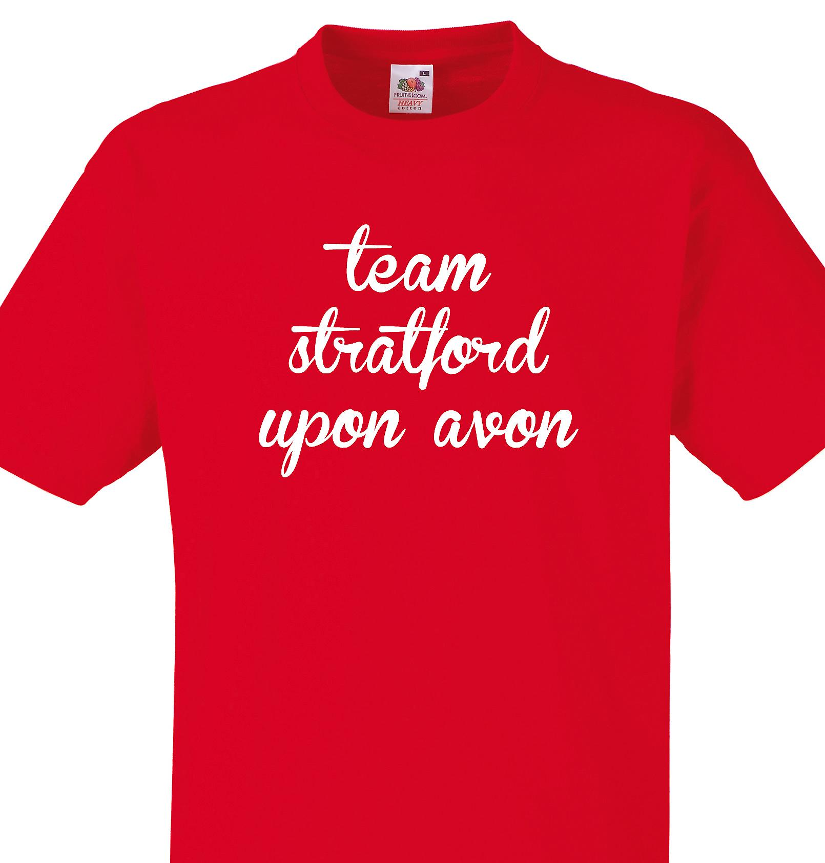 Team Stratford upon avon Red T shirt