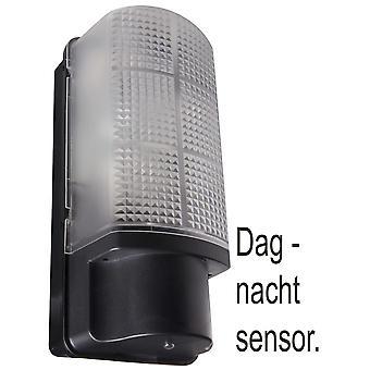 Wandlamp met licht/donker schakelaar - zwart/grijs