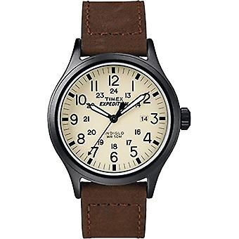 Chesapeake T49963SU, Timex Unisex wristwatch-Adult, Beige (Beige/Brown)