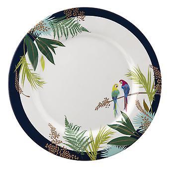 Sara Miller Parrot Set of 4 Melamine Dinner Plates