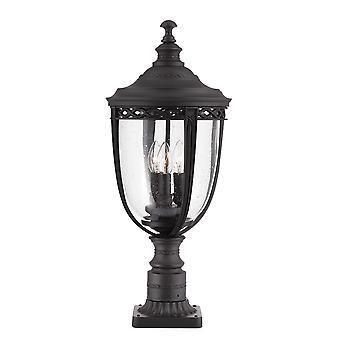 English Bridle Three Light Large Pedestal Black - Elstead Lighting