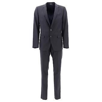 Dolce E Gabbana Blue Wool Suit