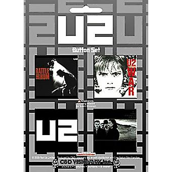 U2 square  badges set (cv)