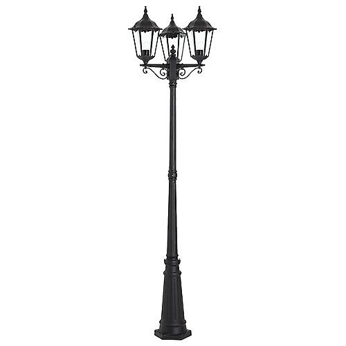 Endon YG-3012 Black Aluminium Outdoor 6-Sided 3-Headed Lamp Post