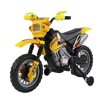 HOMCOM Qaba Kids Electric Motorbike Child Ride on Motorcycle 6V Battery Scooter (Yellow)