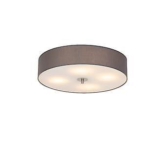 QAZQA Country Round Ceiling lamp 50cm Grey - Drum