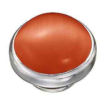 KAMELEON Orange Cat's Eye Sterling Silver JewelPop KJP564