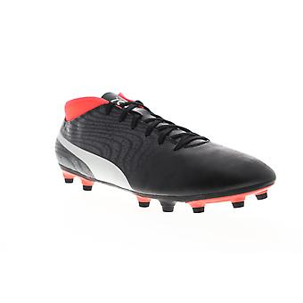 Puma One 18.4 FG 10455601 Mens Black Low Top Athletic Soccer Cleats Shoes