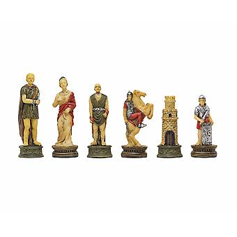 The Romans Vs Gladiators hand painted themed chess pieces by Italfama