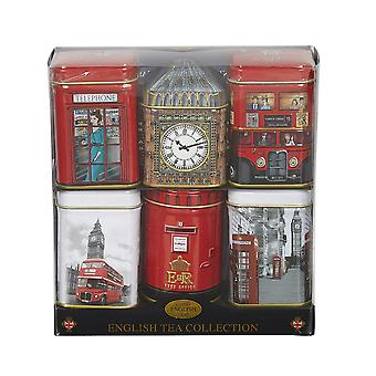 Iconische Londen Engels thee Six mini tin Gift Pack