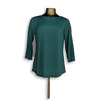 Joan Rivers Classics Collection Women's Top Cold Shoulder Green A299415