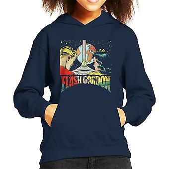 Flash Gordon With Dale Space Flight Kid's Hooded Sweatshirt