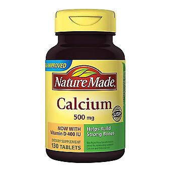 Nature made calcium, 500 mg, with vitamin d, tablets, 130 ea