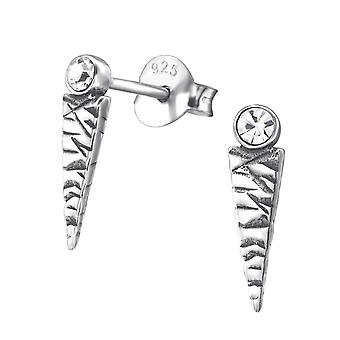 Trekant - 925 Sterling sølv Crystal øret knopper - W29625X