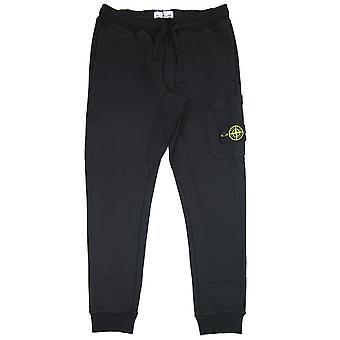 Stone Island 60351 Fleece Track Pants Black V0029