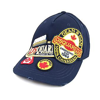 Dsquared2 Patch Cargo Baseball Cap Marine
