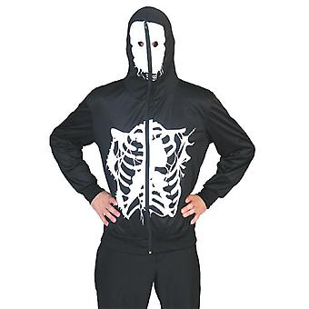 Skeleton Hoodie Men's Costume Teschio Ribs Halloween Camicia Giacca Costume Da Uomo