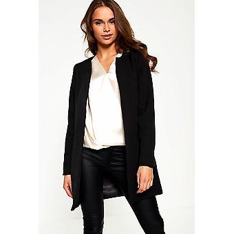 iClothing Aria Longline Blazer In Black-14