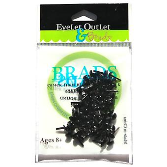 Eyelet Outlet 4Mm Round Brads 70 Pkg Black Brd4mm 292A