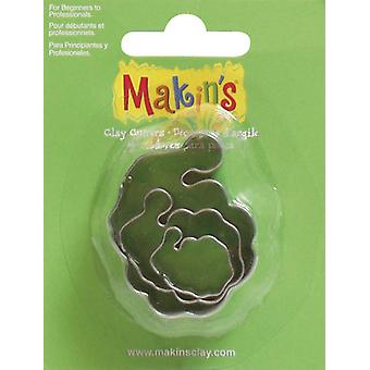 Makin's Clay Cutters 3 Pkg Santa M360 18