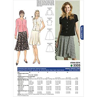 Skirts And Tops  Xs  S  M  L  Xl Pattern K3303