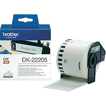 Brother Labels (roll) 62 mm x 30.48 m Paper White